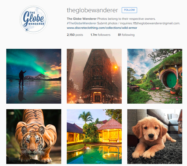 Globe Wonderer Instagram
