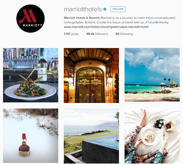 Marriott Hotels Instagram