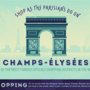Shopping in Paris - Paris Marriott Champs Elysees Hotel Infographic